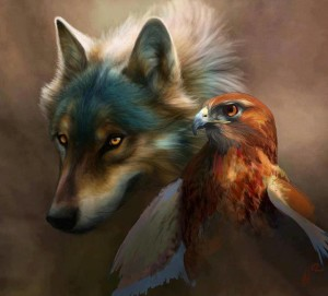 buzzard-and-wolf